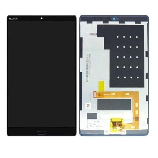 HUAWEI Mediapad M3 Lite 8 Display completo (touch+LCD) nero con tasto home SERVICE PACK