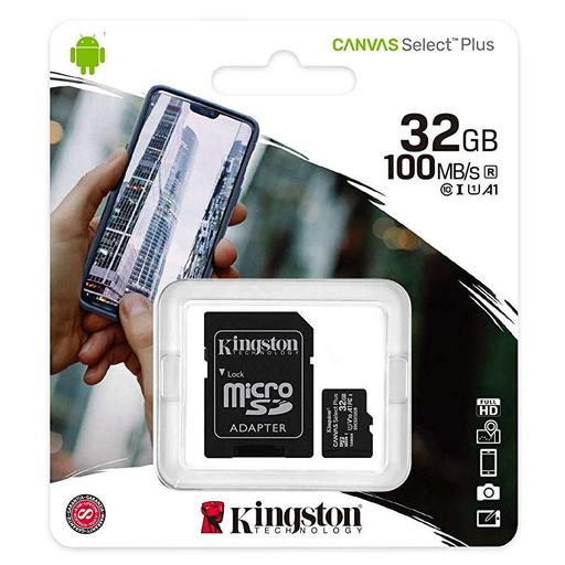 Kingston-Canvas-Select-Plus-32GB-con-adattatore-SD-classe-A1