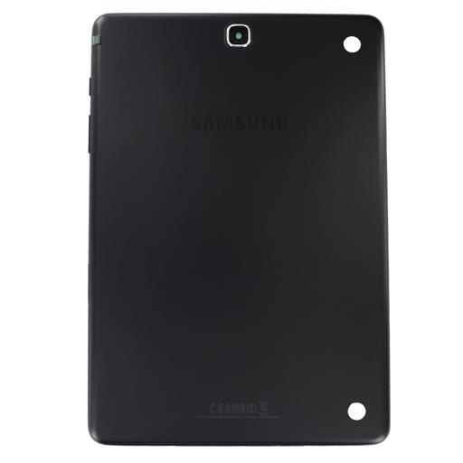 Samsung SM-T550 Galaxy TAB A 9.7 WIFI Copribatteria nero con tasti, vetrino fotocamera e sportelli sim/SD