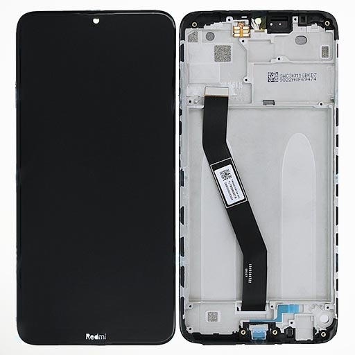 Redmi 8A Display completo (touch+LCD) nero con frame SERVICE PACK