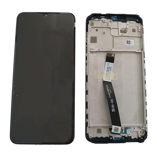 XIAOMI Mi Note 10 Lite Display completo (touch+LCD) bianco con frame SERVICE PACK