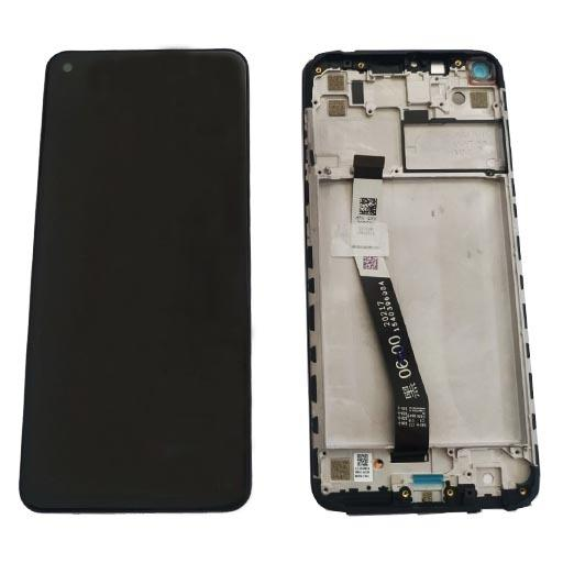 Redmi Note 9 Display completo (touch+LCD) grigio con frame SERVICE PACK