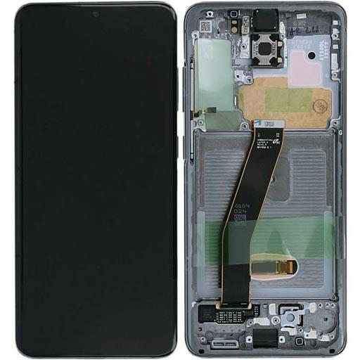 SAMSUNG SM-G980 Galaxy S20 Display completo (touch+LCD) cosmic gray con frame SERVICE PACK