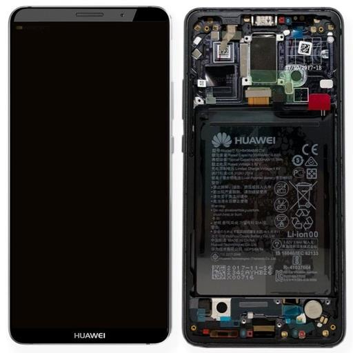 Huawei Mate 10 Pro Display completo (touch+LCD) grigio con frame e componenti - SERVICE PACK