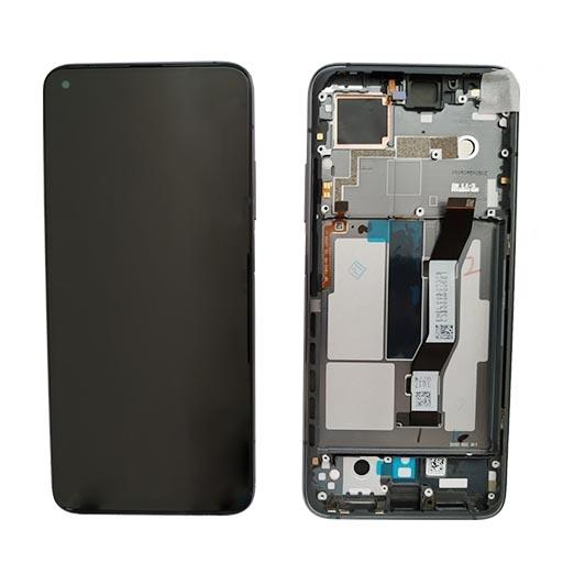 Xiaomi Mi 10T Display completo (touch+LCD) nero con frame SERVICE PACK