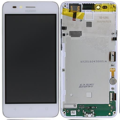 HUAWEI Y3 II Display completo (touch+LCD) bianco (4G) con frame senza batteria - SERVICE PACK