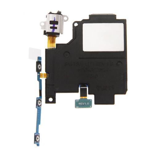 Samsung SM-T800 Galaxy Tab S 10.5 Altoparlante suoneria/vivavoce sinistro, tasti lat. e jack con flat e supporto