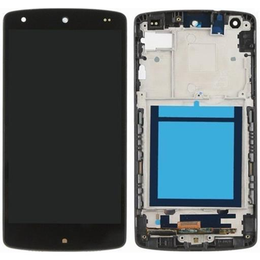 LG D820 Nexus 5 Display completo (touch+LCD) nero con frame