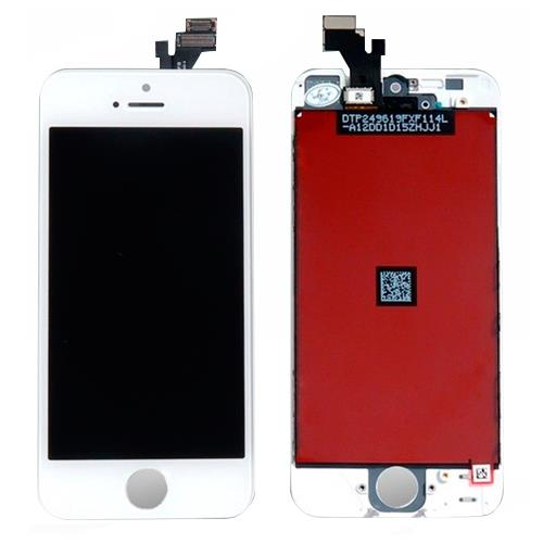 Apple iPhone 5 Display completo di touch Bianco (A++) (TOP QUALITY) (MATRICE LG/SHARP)