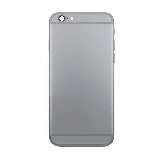 APP-IPH6PX-35NE-MW, Apple, ricambi, Apple iphone 6 plus cover posteriore metallico nero -no logo-, Modello compatibile: apple iphone 6 plus