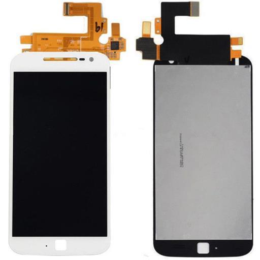 Motorola Moto G4 Plus Display completo (touch+LCD) bianco senza frame