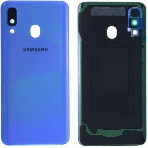 Samsung SM-A405 Galaxy A40 Copribatteria con vetrino camera blu