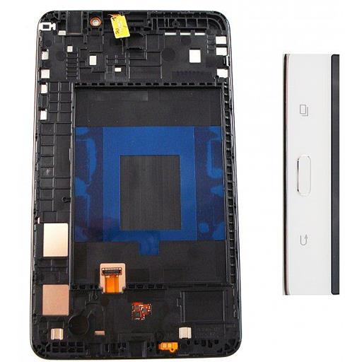 Samsung SM-T230 Galaxy TAB 4 7.0 WIFI Display completo (touch+LCD) bianco con frame - SERVICE PACK