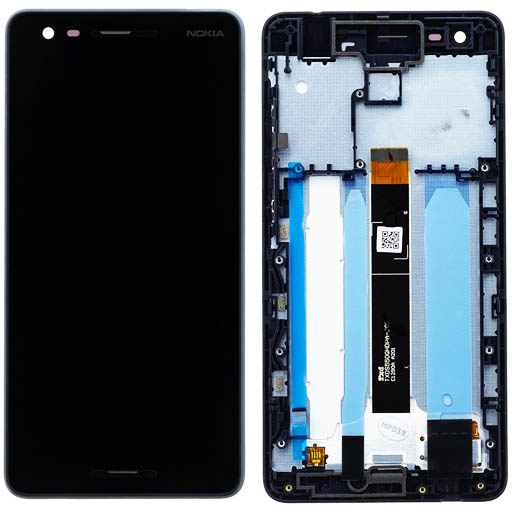 Nokia 2.1 Display completo (touch+LCD) nero con frame